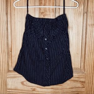 Nollie Black Pin Strip Tube Top (XS)